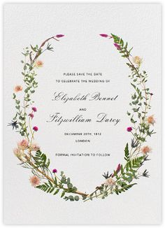 Fleurs Sauvages (Tall Save the Date) - Paperless Post