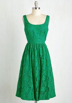 Vivaciously Verdant Dress, #ModCloth