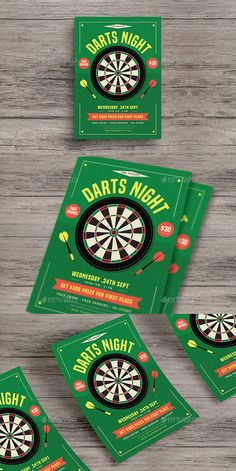 Darts Night Flyer — Photoshop PSD #darts event #bar • Download ➝ https://graphicriver.net/item/darts-night-flyer/20161746?ref=pxcr
