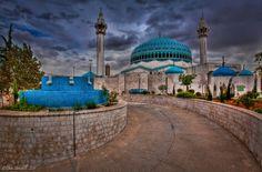 The Blue Mosque in Amman, Jordan.