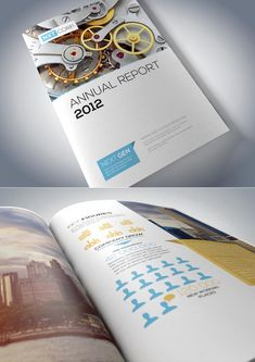 Brochure design in printed form is very important role play in branding as well as grooming in corporate image building. Brochure designs are ideal marketing Corporate Brochure Design, Creative Brochure, Brochure Layout, Brochure Template, Report Template, Annual Report Covers, Annual Report Design, Annual Reports, Brochure Design Inspiration