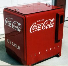 Soda pop cooler chest....the soda pop sat in water in these coolers in the local corner store. 10 cents a bottle..: )