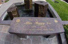 Celebrity Headstones-Peggy Lee, Famous Singer & Songwriter