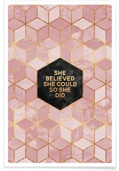 She believed she could - Elisabeth Fredriksson - Premium Poster