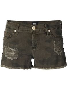 HUDSON Camouflage Denim Shorts