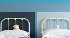 Nursery Painted In Farrow & Ball Cook's Blue, St Giles Blue, Stiffkey Blue And Lulworth Blue