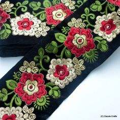 Silver embroidered Trims