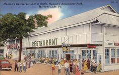 Hanson's Restaurant, Bar & Grille, Hanson's Amusement Park Harveys Lake Pennsylvania