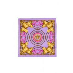 Versace Herritage Barocco Silk Foulard (3.160 NOK) ❤ liked on Polyvore featuring accessories, scarves, silk shawl, patterned scarves, purple scarves, versace scarves and silk scarves