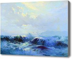 """Репродукция картины """"Морской пейзаж"""". Картина маслом на холсте """"Морской пейзаж"""""""