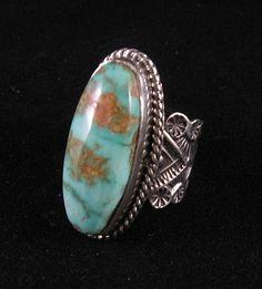 Sunshine Reeves Navajo Native American Royston Turquoise Silver Ring Sz8 | eBay