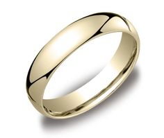 Men's 14k Yellow Gold Comfort-Fit Plain Wedding Band (5 mm) $319.00 (save $399.88) + Free Shipping