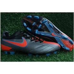 http://www.asneakers4u.com/ Nike Total 90 Laser IV FG KL Soccer Cleats   Black/Orange/Blue