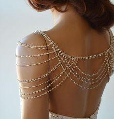 Shoulder Jewelry, Shoulder Necklace, Bridesmaid Jewelry, Bridal Jewelry, Bridal Accessories, Jóias Body Chains, Body Jewelry, Fine Jewelry, Jewelry Logo