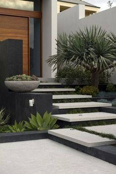 floating stairs // Branksome   Tim Davies Landscaping #landscaping #steps …