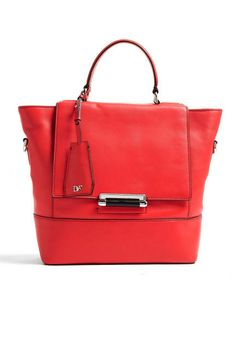 A bright Diane von Furstenberg tote is your new go-to bag for everything
