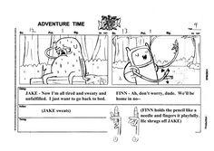 Resultado de imagem para storyboard adventure time