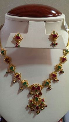 Necklaces – Page 5 – Finest Jewelry Gold Wedding Jewelry, Gold Jewelry Simple, Simple Necklace, Necklace Set, Bridal Jewellery, Pearl Necklace Designs, Gold Earrings Designs, Gold Jewellery Design, Ruby Jewelry