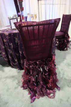 Eggplant Wedding Chair Covers