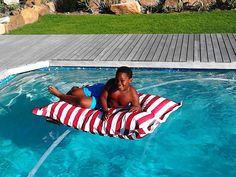 PoolPillowz Pool Pillow, Outdoor Events, Outdoor Decor, Pool Furniture, Business For Kids, Beach Party, Sleepover, Kids Playing, Laughter