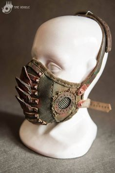 Gas Mask - Gift For Men - Mens Armor - Props - Atomic Bomb - Horror - Creepy - Rocker - Metal - New Age - Leather Mask - Gas masks - Accessories Mode Steampunk, Steampunk Mask, Steampunk Fashion, Post Apocalyptic Costume, Post Apocalyptic Fashion, Post Apocalyptic Clothing, Apocalypse Costume, Apocalypse Fashion, Cuadros Star Wars