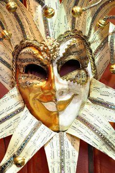 Venetian Carnival Mask - Maschera di Carnevale - Venice Italy -