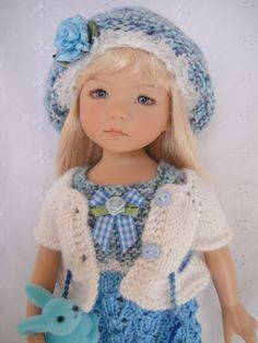Handknitted Outfit for Little Darling Doll 13 inches Dianna Effner New | eBay