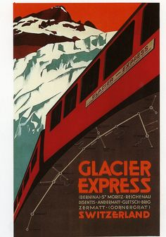 SWITZERLAND - Glacier Express 1925 #Vintage #Travel