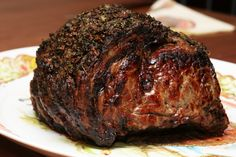 Roast Prime Rib of Beef- oven. Cook at 500 for 5 min each pound. Stay in oven for 2 hours with oven off- do not open oven.