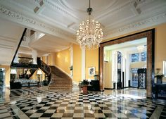 The Lobby at Claridges Hotel, London. Magnificent!