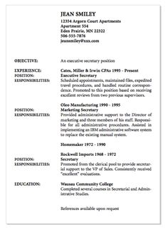 example of executive secretary resume httpexampleresumecvorgexample