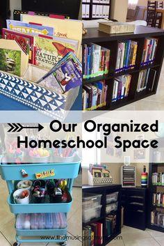 Online home schooling#AHSOnlineSchool Our Organized Homeschool Space