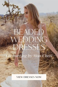 Beaded detailing that's almost too good to be true. Check out these beaded wedding dresses from Enchanting by Mon Cheri if you're looking for that extra touch of glamour in your wedding day look! Destination Wedding, Wedding Day, Mon Cheri, Rehearsal Dinners, Vows, Enchanted, Beautiful Places, Glamour, Touch