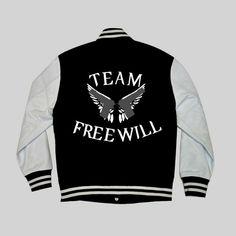 Team Free Will Supernatural Varsity Hoodie by EatSleepTrainGeek