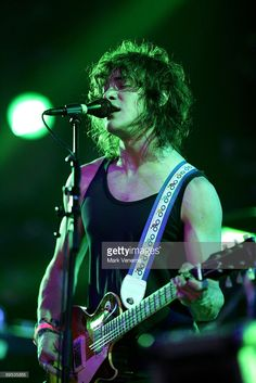 Andrew VanWyngarden performs live with his band MGMT at the Lowlands Festival on August 17, 2008 in Biddinghuizen, The Netherlands.