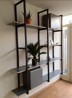 Wrought Iron Special Design Shelf / Wrought Iron Special Design Shelf- Ferforje Özel Tasarım Raf / Wrought Iron Special Design Shelf WhatsApp Support: 0536 920 4926 – 0532 643 3682 E-Mail: - Bookcase Storage, Bookshelves, Wall Cupboards, Garden Chairs, Wrought Iron, Plank, Living Room, Interior Design, Welding Projects