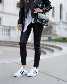 Casual weekend wear. @liketoknow.it www.liketk.it/2msTa #liketkit #ltkunder100 #leatherjacket #ootd