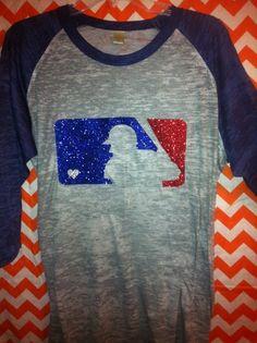 Glittery Major League Baseball Tee
