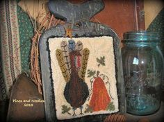 ~ Primitive Punch Needle Turkey Hornbook ~