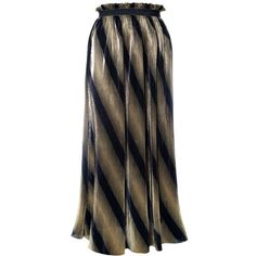 Plus Size Pleated Metallic Maxi Skirt, Black and Gold ($35) ❤ liked on Polyvore featuring skirts, striped maxi skirts, plus size pleated maxi skirt, pleated skirt, long striped skirt and metallic pleated maxi skirt