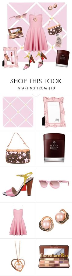 """Pink&Chocolate"" by frenchcountryromantic ❤ liked on Polyvore featuring Sweet Jojo Designs, Sephora Collection, Louis Vuitton, Molton Brown, Fendi, Ray-Ban, Boohoo, LE VIAN, Too Faced Cosmetics and Casetify"