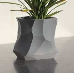 Modern Edge Concrete Planter
