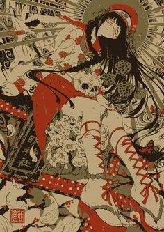 Kai Fine Art is an art website, shows painting and illustration works all over the world. Art Manga, Art Anime, Anime Kunst, Pretty Art, Cute Art, Aesthetic Art, Aesthetic Anime, Art Sketches, Art Drawings
