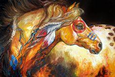 Indian war horse print