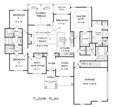 Ideal House Layout plan 51728hz: split bedroom traditional with home office | house