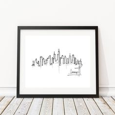 Chicago Skyline Drawing | Original artwork | Architectural drawing | Pen and Ink by hand | 8x10 Wall Print by IlerCreative on Etsy https://www.etsy.com/listing/534212752/chicago-skyline-drawing-original-artwork