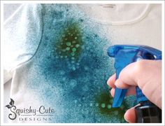 Batik fabric with glue.  Glue resist dyeing - tie dye shirts and bags