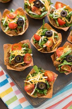 Whip up Mini Turkey Taco Salad for game day.
