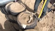 How to Build a Tire Wall - YouTube