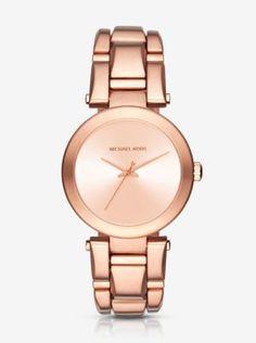 f30bd26552de4 Delray Rose Gold-Tone Watch STORE STYLE    MK3518 Michael Kors Looks